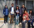 Volunteers help repair damages Daejun shelter after the Flood